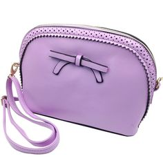 """Ancient bow purple small purse P U leather lady handbag     Length :10'  Width :3.5''  Height :6.5"""" inches    Strap length : 25'' to 50'' inches,adjustable    Please follow us @oceanfashion on facebook  www.oceanfashion.com Ocean Fashion Bags"""