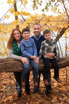 Beautiful fall family portrait session at Peters Lake Park in Pittsburgh PA. Kristin Merck Photography