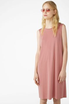 Super-soft dress - Soft dusty rose - Dresses - Monki AT Dusty Rose Dress, Black Tank Dress, Black Magic, Monki, Cold Shoulder Dress, Fabric, How To Wear, Clothes, Dresses