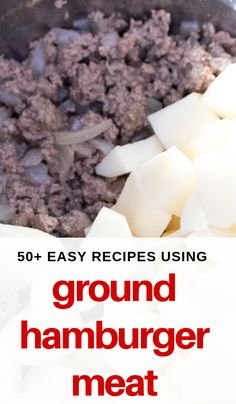 On pizza or wrapped in bread, one of these over 50 hamburger meat recipes are sure to please you and your family! #groundbeefrecipes #hamburgermeatrecipes #easydinnerrecipes #3boysandadog Ground Beef Recipes For Dinner, Easy Dinner Recipes, Easy Meals, Beef Appetizers, Hamburger Meat Recipes, Hamburgers, Recipe Using, Hot Dogs, Pizza