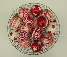 Hand painted baubles.