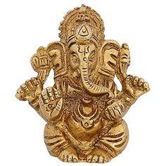 Indian Statue Religious Gift For mom God Décor Ganesha Art Hindu Brass 2.5 inch ShalinIndia http://www.amazon.in/dp/B010M3JVGS/ref=cm_sw_r_pi_dp_-6U3vb00XFHN2