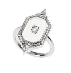 Bague Universe de Nikos Koulis en or blanc, diamants, émail translucide