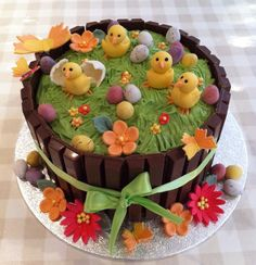 Easter cake - For all your Easter cake decorating supplies, please visit http://www.craftcompany.co.uk/occasions/easter.html