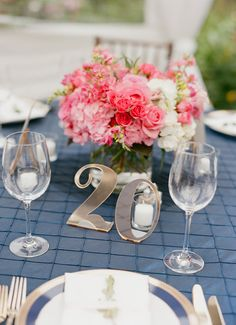 Dazzling Table Numbers Your Guests Will Love! Gold mirrored table numbers add charm to any wedding reception // Handcrafted Table Numbers and Event Decor, Gifts & Accessories at www.ZCreateDesign.com or ZCreateDesign on Etsy