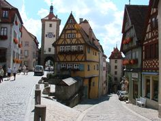 Rothenburg, Germany the town where pinnochio was based off of