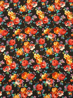 New Arrival! Black/Scarlet/Pink/Multi Floral Print Double Knit Jacquard 58W