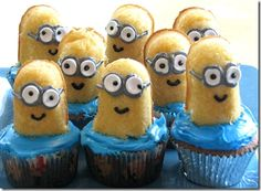 Minions from Despicable Me! Looks easy enough to make, gonna try this out sometime soon with the kiddos.