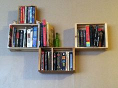 creative bookshelf pesquisa google wall mounted - Wall Hanging Book Shelf