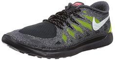 Nike Free 5.0 Glow (GS), Unisex-Kinder Laufschuhe, Schwarz (Black/white-frc green-hypr grp), 40 EU - http://on-line-kaufen.de/nike/40-eu-nike-free-5-0-glow-gs-unisex-kinder-laufschuhe