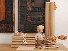 Kraft paper gift wrap (from Nicoletter). This makes me all kinds of happy.