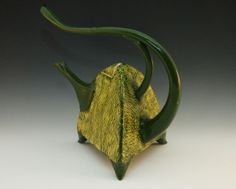Armored Green & Yellow Teapot by ila