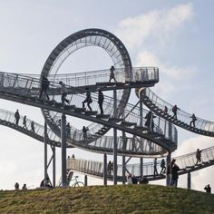 Tiger and turtle - Magic Mountain by Heike Mutter and Ulrich Genth. 21-metre-high sculptural walkway position on a hilltop in Duisburg, Germany. (Dezeen,  23 November 2011)