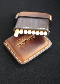 Leather cigarette case Christmas gift Gifts for smokers