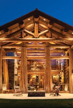 'Handcrafted Log Home: The Jackson Hole Residence.' M.T.N Design, Meridian, ID. PrecisionCraft Log & Timber Homes. Heidi Long, Longview Studios photo.