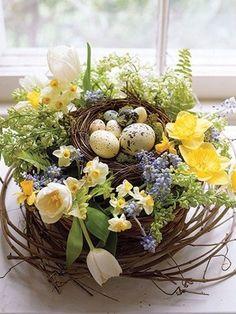 33 #Pascua los arreglos florales para impresionar a cualquier huésped...