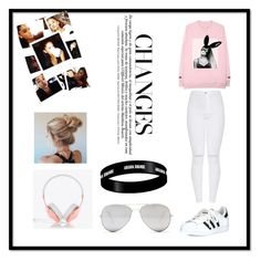 """""""Ariana Grande Outfit 💕"""" by emiliawood1 ❤ liked on Polyvore featuring adidas, Frends and Sunny Rebel"""