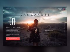 Web Design Inspiration : Travel website exploration daily design website web ux ui travel lanzarote canary page landing header Just a little web exploration for a travel agency website. Photo credits by André Josselin Website Design Inspiration, Best Website Design, Travel Website Design, Website Design Layout, Travel Design, Web Layout, Website Designs, Graphisches Design, Web Ui Design