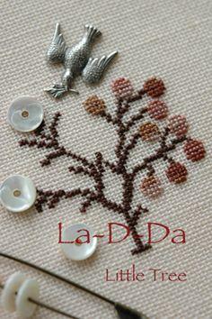 stitch | icco note Love the bird charm..