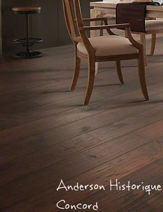 Anderson Historique, Concord engineered and heavily scraped hickory hardwood.