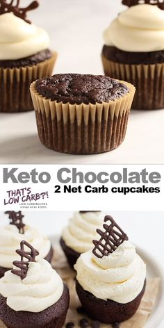 These amazing Keto Cupcakes really are the best! A moist and easy low carb chocolate cupcake recipe pulled together with just a few simple ingredients. #lowcarbcupcakes #ketocupcakes #lowcarbdessert #ketodessert #glutenfreecupcakes #lowsugarcupcakes #easydesserts #lowsugardesserts