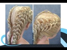 3 strengen op vlecht met lussen, 3 strand dutch loop braid - YouTube