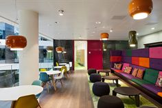"The ""Social Area"" provides a space for more informal exchanges between employees"