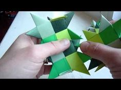 how to fold a froebel star sphere Origami Cards, Origami Paper Folding, Origami Instructions, Origami Tutorial, Origami Modular, Paper Flowers, Paper Bows, 3d Paper, Paper Weaving