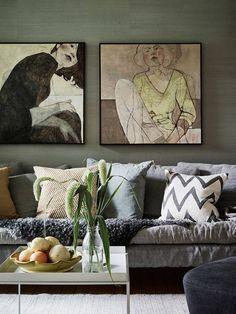 Deko-Ideen für leere Wand hinter der Couch deco ideas for empty wall behind the couch ( Wand Hinter Couch, Wall Behind Couch, Interior And Exterior, Interior Design, Luxury Interior, Wall Decor, Room Decor, Wall Art, Blank Walls
