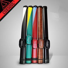 Sporting Goods 1x1 Hard Pool Cue Stick Carrying Case Billiards Canister 2 Holes 1 Butt+1 Shaft
