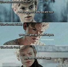 I want to cry love yah newt Maze Runner Quotes, Maze Runner Funny, Maze Runner Trilogy, Maze Runner Cast, Maze Runner The Scorch, Maze Runner Thomas, Maze Runner Movie, Maze Runner Series, Movies And Series