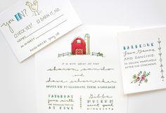 Custom Letterpress Wedding