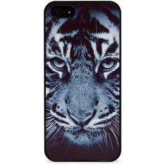 BlissfulCASE Wild Tiger in Black iPhone case found on Polyvore