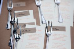 Put names or welcome messages on these forks tags