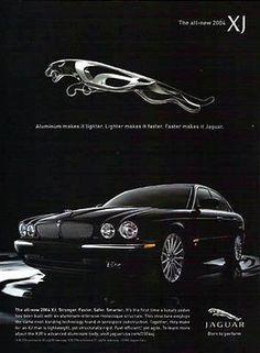 Jaguar 2004 XJ Automobile Photo Illustration Ad 2003 Auto Advertising