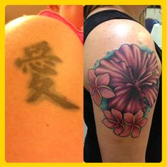 Before and after tattoo cover up Side Tattoos, Tattoos For Guys, Cool Tattoos, Heart Tattoos, Tatoos, Tattoo Sleeve Designs, Flower Tattoo Designs, Sleeve Tattoos, Survivor Tattoo