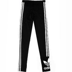 new arrival 948b7 7cdb9 Adidas 3 Stripes Leggings Womens AB2067 Black White Tight Pants Wmns Size S