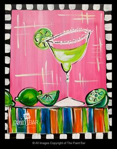 Margarita Time Painting - Jackie Schon, The Paint Bar