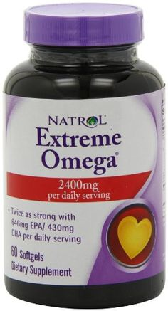 Natrol Extreme Omega  2400 mg 60 Softgels -- You can find out more details at the link of the image.