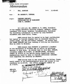 This letter shows HW Bush was in Tyler at the time of the Kennedy assassination in Dallas. He was speaking at a function. THerefore he is not the man photographed in front of the School Book Depository.