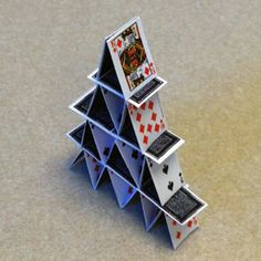 house of cards--- Printies and tutorial for house of cards
