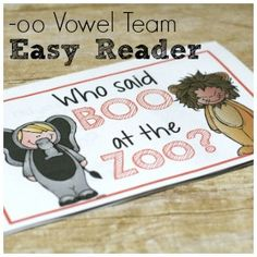 Halloween Vowel Team Easy Reader for oo