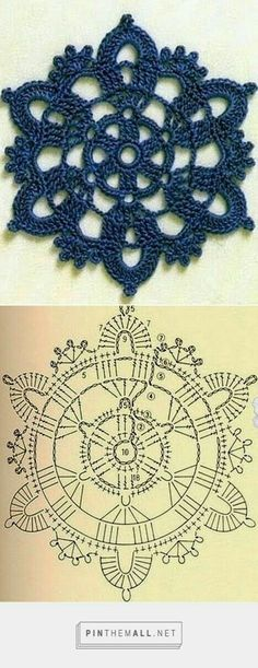 Transcendent Crochet a Solid Granny Square Ideas. Inconceivable Crochet a Solid Granny Square Ideas. Crochet Flower Squares, Crochet Snowflake Pattern, Crochet Motif Patterns, Crochet Snowflakes, Crochet Diagram, Crochet Chart, Thread Crochet, Crochet Granny, Irish Crochet