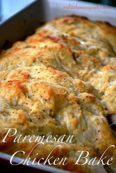 Gina's Italian Kitchen: Parmesan Chicken Bake