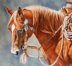 Horse painting by Steve Johnson