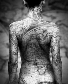 Map tattoo picture - 50 Amazing Tattoo Pictures  <3 <3