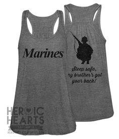 #USMC #military #veterans Sleep Safe - Marines. USMC sister - www.HireAVeteran.com