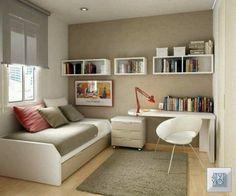 Trendy Home Office Quarto Simples Ideas Home Office Design, Home Office Decor, House Design, Office Designs, Office Style, Office Ideas For Home, Guest Bedroom Office, Home Bedroom, Guest Rooms