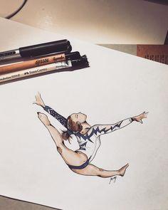"""Ferly! carlyferly #boom #gymnast #gym #beam #love #art #sketch #pantoni…"""""""