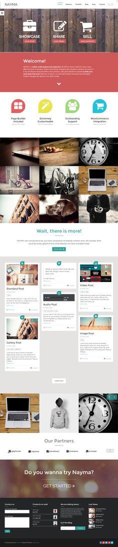 Nayma - Multi-Purpose WordPress by WordPress Design Awards , via Behance